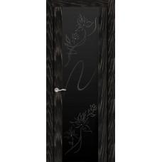 Ульяновская дверь Бриллиант чёрный абрикос ДО чёрное