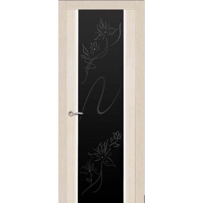 Ульяновская дверь Бриллиант белёный дуб ДО чёрное