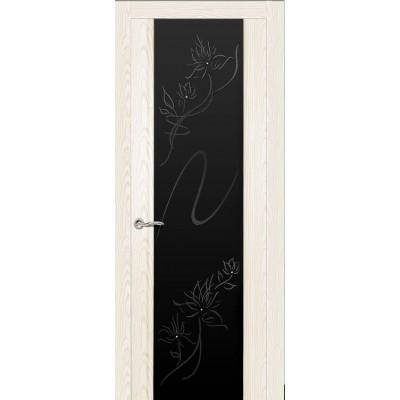 Ульяновская дверь Бриллиант белый ясень ДО чёрное