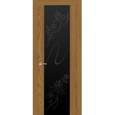 Ульяновская дверь Бриллиант дуб медовый ДО чёрное