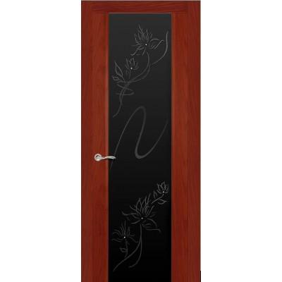Ульяновская дверь Бриллиант красное дерево ДО чёрное