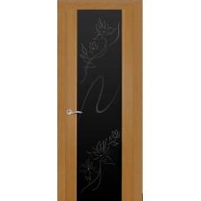 Ульяновская дверь Бриллиант светлый анегри ДО чёрное