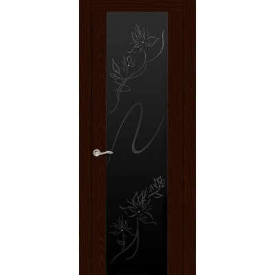 Ульяновская дверь Бриллиант ясень шоколад ДО чёрное