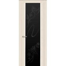Ульяновская дверь Бриллиант ясень крем ДО чёрное