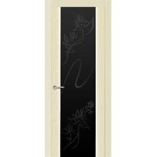Ульяновская дверь Бриллиант ясень ваниль ДО чёрное