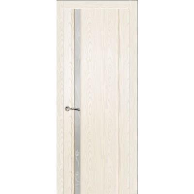 Ульяновская дверь Бриллиант-1 белый ясень ДО