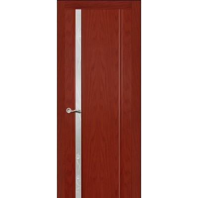 Ульяновская дверь Бриллиант-1 красное дерево ДО