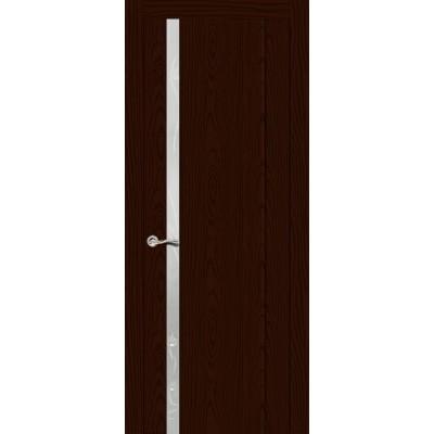 Ульяновская дверь Бриллиант-1 ясень шоколад ДО