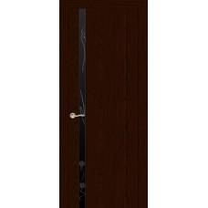 Ульяновская дверь Бриллиант-1 ясень шоколад ДО чёрное
