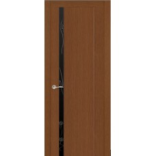 Ульяновская дверь Бриллиант-1 тёмный дуб ДО чёрное