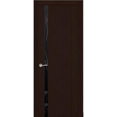 Ульяновская дверь Бриллиант-1 венге ДО чёрное