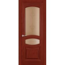 Ульяновская дверь Топаз красное дерево ДО