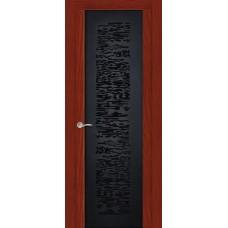 Ульяновская дверь Вейчи красное дерево ДО чёрное