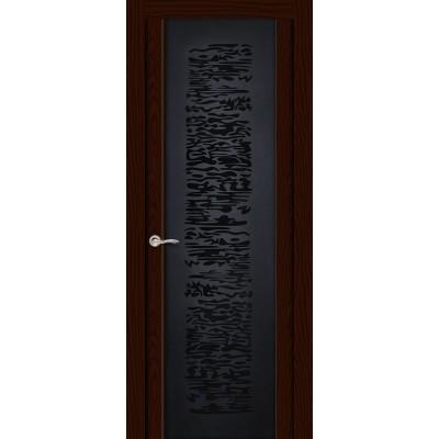 Ульяновская дверь Вейчи ясень шоколад ДО чёрное