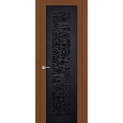 Ульяновская дверь Вейчи тёмный дуб ДО чёрное