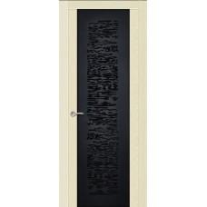 Ульяновская дверь Вейчи ясень ваниль ДО чёрное
