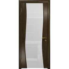 Ульяновская дверь Грация-3 американский орех стекло триплекс белый