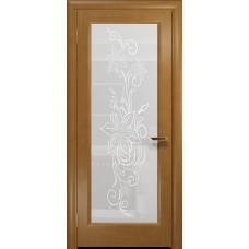 Ульяновская дверь Миланика-1 анегри стекло белое пескоструйное «миланика-1»