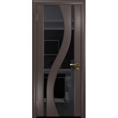 Ульяновская дверь Веста эвкалипт стекло триплекс черный