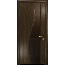 Ульяновская дверь Фрея-2 американский орех тонированный стекло триплекс бронзовый