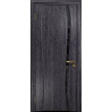 Ульяновская дверь Портелло-1 абрикос стекло триплекс черный 3d «куб»