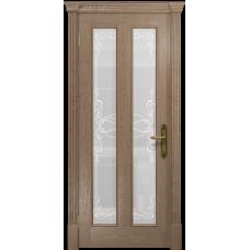 Ульяновская дверь Неаполь дуб стекло белое пескоструйное «порта»