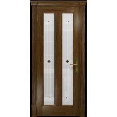 Ульяновская дверь Неаполь сукупира стекло белое пескоструйное «ромб»