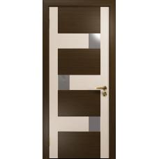 Ульяновская дверь Ронда-2 венге/дуб беленый стекло триплекс зеркало
