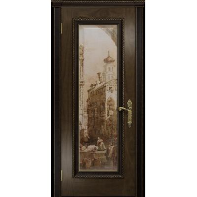 Ульяновская дверь Версаль-5 Декор американский орех тонированный стекло цифровая фреска