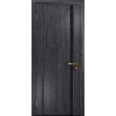 Ульяновская дверь Триумф-1 абрикос стекло триплекс черный с тканью