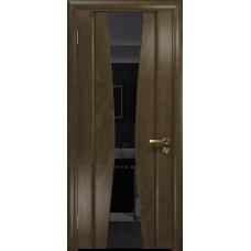 Ульяновская дверь Соната-2 американский орех стекло триплекс черный