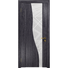 Ульяновская дверь Торелло абрикос стекло триплекс белый 3d «куб»