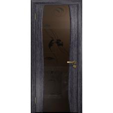 Ульяновская дверь Портелло-2 абрикос стекло триплекс бронзовый «вьюнок» матовый