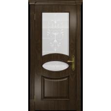 Ульяновская дверь Санремо американский орех тонированный стекло белое пескоструйное «италия»