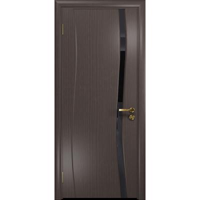 Ульяновская дверь Грация-1 эвкалипт стекло триплекс черный