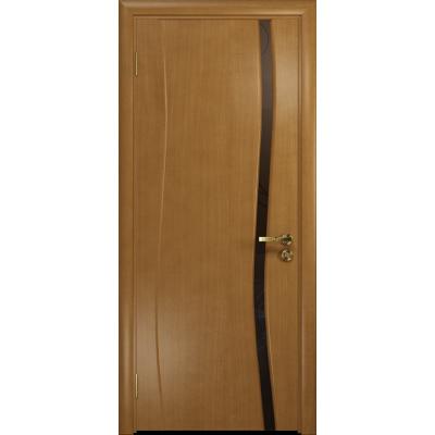 Ульяновская дверь Грация-1 анегри стекло триплекс бронзовый «вьюнок» матовый