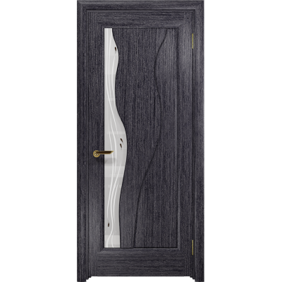 Ульяновская дверь Энжел абрикос стекло белое пескоструйное «капля»