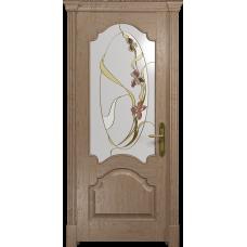Ульяновская дверь Валенсия-1 дуб стекло витраж «овал»