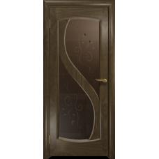 Ульяновская дверь Диона-2 американский орех стекло бронзовое пескоструйное «лилия»
