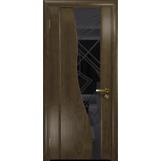 Ульяновская дверь Торелло американский орех стекло триплекс черный 3d «куб»