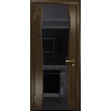 Ульяновская дверь Портелло-2 американский орех тонированный стекло триплекс черный