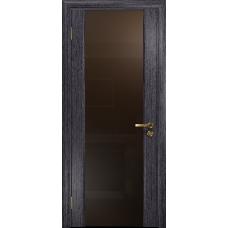 Ульяновская дверь Триумф-3 абрикос стекло триплекс бронзовый
