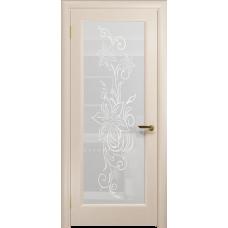Ульяновская дверь Миланика-1 дуб беленый стекло белое пескоструйное «миланика-1»