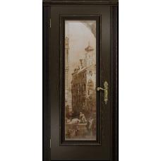 Ульяновская дверь Версаль-5 Декор ясень венге стекло цифровая фреска