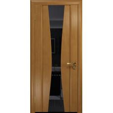 Ульяновская дверь Соната-2 анегри стекло триплекс черный