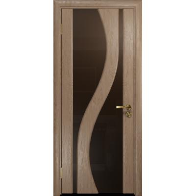 Ульяновская дверь Веста дуб стекло триплекс бронзовый