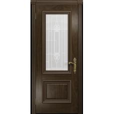 Ульяновская дверь Версаль-1 американский орех тонированный стекло витраж «адель»