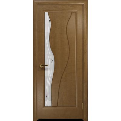Ульяновская дверь Энжел ясень античный стекло белое пескоструйное «капля»