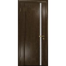 Ульяновская дверь Триумф-1 американский орех тонированный стекло триплекс белый с тканью