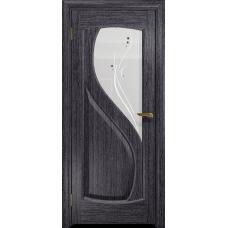 Ульяновская дверь Диона-1 абрикос стекло белое пескоструйное «капля»